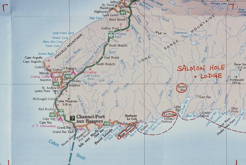 Small Map Southwest Coast of Newf